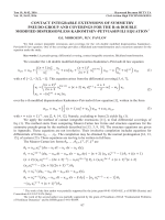CONTACT INTEGRABLE EXTENSIONS OF SYMMETRY PSEUDO-GROUP AND COVERINGS FOR THE R-th DOUBLE MODIFIED DISPERSIONLESS KADOMTSEV-PETVIASHVILI EQUATION.