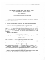 Invariants of the real line affine group on the space of polynomials.