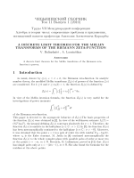 A discrete limit theorem for the Mellin transforms of the Riemann zeta-function.