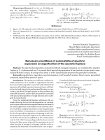 Necessary conditions of summability of spectral expansion on eigenfuction of the operator laplace.