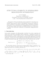 Structural stability in generalized semi-infinite optimization.