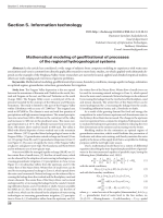 Mathematical modeling of geofiltrational of processes of the regional hydrogeological systems.