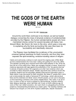 The Gods of the Earth Were Human