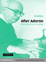 After Adorno. Rethinking Music Sociology