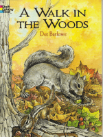 A Walk in the Woods Coloring Book(Dover Coloring Books).-