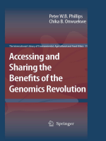 Accessing and Sharing the Benefits of the Genomics Revolution