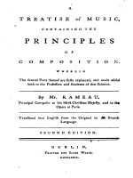 Рамо. Treatise on composition 1779