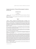 American Association of Physical Anthropologists constitution and by-laws