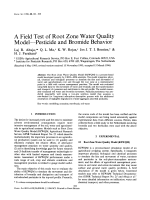 A Field Test of Root Zone Water Quality Model-Pesticide and Bromide Behavior