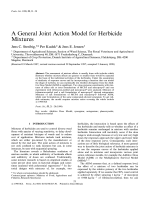 A general joint action model for herbicide mixtures