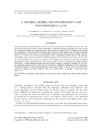 A general modelling of expansive and non-expansive clays