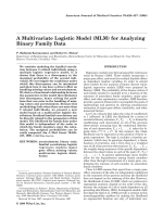 A multivariate logistic model (MLM) for analyzing binary family data