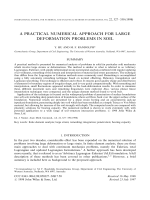 A practical numerical approach for large deformation problems in soil