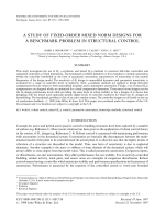 A study of fixed-order mixed norm designs for a benchmark problem in structural control