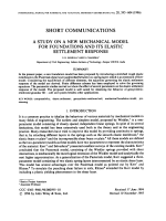 A STUDY ON A NEW MECHANICAL MODEL FOR FOUNDATIONS AND ITS ELASTIC SETTLEMENT RESPONSE