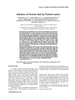 Ablation of human nail by pulsed lasers