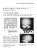 Acampomelic campomelic dysplasia Further radiographic variations