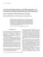 Accelerated Degradation and Mineralization of Atrazine in Surface and Subsurface Soil Materials