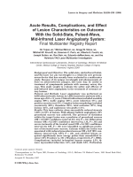 Acute results  complications  and effect of lesion characteristics on outcome with the solid-state  pulsed-wave  mid-infrared laser angioplasty system Final multicenter registry report