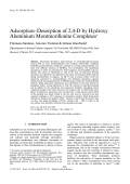 Adsorption-desorption of 2 4-D by hydroxy aluminium montmorillonite complexes