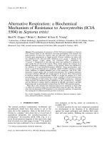 Alternative Respiration a Biochemical Mechanism of Resistance to Azoxystrobin (ICIA 5504) in              Septoria tritici