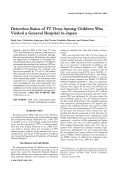 Detection rates of TT virus among children who visited a general hospital in Japan