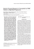 Routine prenatal diagnosis of aneuploidy by FISH studies in high-risk pregnancies
