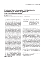 The use of semi-automated EBV IgG avidity determination for the diagnosis of infectious mononucleosis