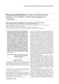 Peroxisomal disorders Clinical and biochemical studies in 15 children and prenatal diagnosis in 7 families