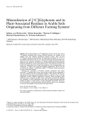 Mineralization of [14C] glyphosate and its plant-associated residues in arable soils originating from different farming systems