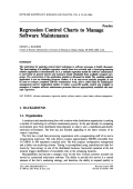 Regression Control Charts to Manage Software Maintenance