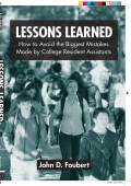 John D. Foubert - Lessons Learned- How to Avoid the Biggest Mistakes Made by College Resident Assistants (2006  Routledge)