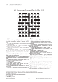 AJH Hematology crossword puzzle  May 2010.