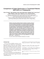 Comparison of organ dysfunction in transfused patients with SCD or ╬▓ thalassemia.