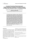 Increased circulating plateletт neutrophil  plateletт monocyte complexes  and platelet activation in patients with ulcerative colitis  A comparative study.