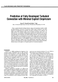 Prediction of fully developed turbulent convection with minimal explicit empiricism.