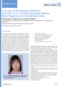 A de novo 1.9-Mb interstitial deletion of 3q13.2q13.31 in a girl with dysmorphic features  muscle hypotonia  and developmental delay