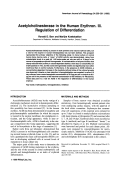 Acetylcholinesterase in the human erythron. III. Regulation of differentiation