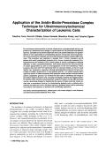Application of the avidin-biotin-peroxidase complex technique for ultraimmunocytochemical characterization of leukemic cells.