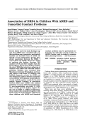Association of DRD4 in children with ADHD and comorbid conduct problems.