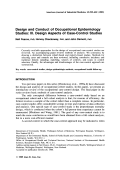 Design and conduct of occupational epidemiology studies III. Design aspects of case-control studies