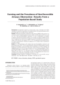 Farming and the prevalence of non-reversible airways obstructionтАФresults from a population-based study.