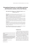 Occupational exposures to acid mists and gases and ulcerative lesions of the oral mucosa.