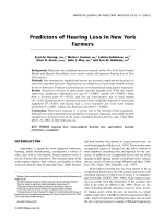 Predictors of hearing loss in New York farmers.
