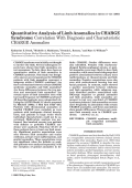 Quantitative analysis of limb anomalies in CHARGE syndrome Correlation with diagnosis and characteristic CHARGE anomalies.