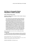 Sib risks for nonspecific mental retardation in British Columbia.