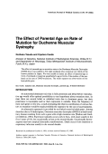 The effect of parental age on rate of mutation for duchenne muscular dystrophy.