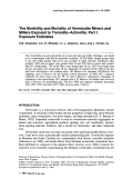 The morbidity and mortality of vermiculite miners and millers exposed to tremolite-actinolite Part I. Exposure estimates