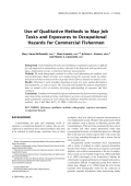 Use of qualitative methods to map job tasks and exposures to occupational hazards for commercial fishermen.