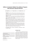 Utility of a routine medical surveillance program with benzene exposed workers.